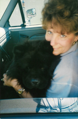 Vicki & Mr Bear Dog